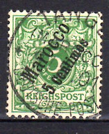 1899 Deutsche Auslandpostamt Im Marokko 5 C Used  MI 2  Cancelation Tanger - Oficina: Marruecos