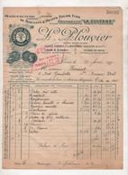 1932 - FACTURE MANUFACTURE DE BISCUITS & PETITS FOURS L. PLOUVIER 40 QUAI DE JEMMAPES 10e ARt PARIS VERS SAINT BRIEUC - Food