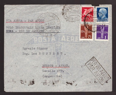 Regno, Busta Primo Volo Roma - Rio De Janeiro Del 1939        -CZ54 - Poststempel (Flugzeuge)