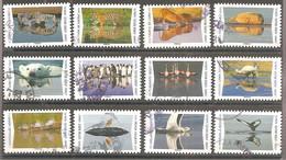 FRANCE 2020 Y T N ° 1815/1826 Série Complète Oblitérée CACHETS RONDS Reflets Animaux - Adhesive Stamps