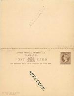 Tasmanie. CP 4 Double  (Higgins)  SPECIMEN - Storia Postale