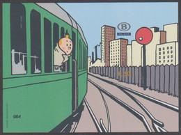 TRV BL 12A -Kuifje - Tintin - Ongetand - Non Dentelé - Met/ Avec  N°004 - En Genummerde Omslag/et Enveloppe Numéroté - Otros