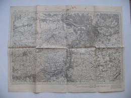 Carte Militaire Anglaise ANVERS Belgique Beveren Saint Nicolas Edeghem Tamse Boechout Escaut Melseledijk Saint-Gilles - 1939-45
