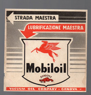 Genova (Italie) Petit Carton MOBILOIL (huile Pour Automobiles) (PPP26235) - Advertising