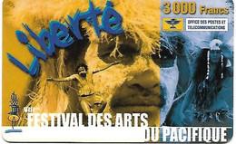 @+ Nouvelle Calédonie - Recharge Liberté 3000 Fr - VIIIème Festival Des Arts Du Pacifique (2002) - Ref : C-OPT-LIB-0004 - Neukaledonien