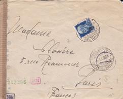ITALIE, Enveloppe De Rome Vers Paris, Ouverte Pour Contrôle De La Censure 3-8-43 - Sonstige
