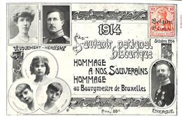 1914 - Souvenir National Historique Hommage à Nos Souverains (alimention Populaire) - Patrióticos