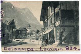 Grindelwald - ( BE Berne ),Pension Restaurant Glefschergartin Mit Eiger, Femme, écrite, 1907, épaisse, TBE, Scans. - BE Berne