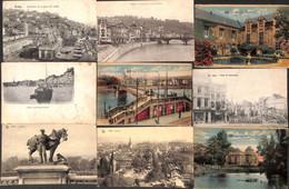 Liège - Lot 10 Cartes (un Peu De Tout Animée Colorisée... Moins Courante) - Liège