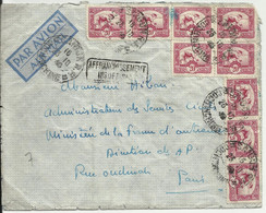 """Indochine Lettre De SAIGON De 1940 Pour La France Avec 9 N° 163 + Griffe """"affranchissement Insuffisant"""" - Brieven En Documenten"""