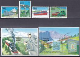 Md_ Dominica 1991 - Mi.Nr. 1364 1367 1369 1370 + Block 176 + 177 - Postfrisch MNH - Schweizer Bergbahnen - Other (Earth)