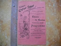Programme Du Grand Casino De Paramé  . Saison 1902  . 3 Photos - Programs