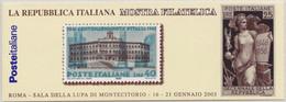 Italia - 2003 - Montecitorio - Libretto Da 5v Con App MNH** (rif. L23 Cat. Unificato) - Carnets