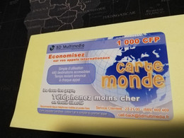 NOUVELLE CALEDONIA  PREPAID CARD  1000 CFP   ** 3863 ** - Neukaledonien