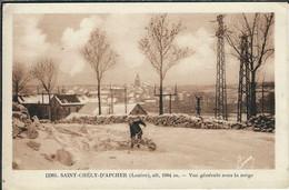LOZERE : ST CHELY D'APCHER : Vue Générale Sous La Neige, Carte Pas Courante... - Saint Chely D'Apcher