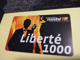 NOUVELLE CALEDONIA  PREPAID CARD  LIBERTE  1000  MOBI 10   OPT    ** 3866 ** - Neukaledonien