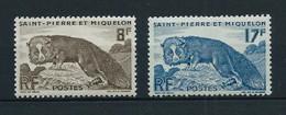 SAINT PIERRE ET MIQUELON  1952 . N°s 345 Et 346 . Neufs ** (MNH) . - Nuovi