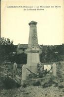 08 Ardennes  CHARBOGNE Le Monument Aux Morts De La Grande Guerre - Autres Communes