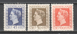 Netherlands 1948 NVPH 487-489 MNH - Unused Stamps