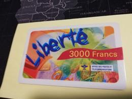 NOUVELLE CALEDONIA  PREPAID CARD  3000  FRANCS LIBERTE     OPT    ** 3869 ** - Neukaledonien