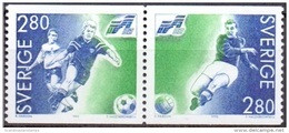 ZWEDEN 1992 WK Voetbal Paar II MNH - Neufs