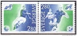 ZWEDEN 1992 WK Voetbal Paar I MNH - Neufs