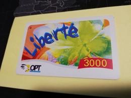 NOUVELLE CALEDONIA  PREPAID CARD  3000  FRANCS LIBERTE     OPT    ** 3871 ** - Neukaledonien