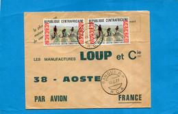 Marcophilie+thematic Stamp-lettre REP Centrafrique-cad 1977-2- Stamps-N°226 Travaux Des Anciens Combattants - Central African Republic