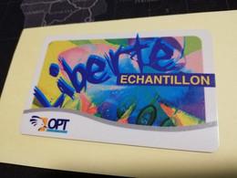 NOUVELLE CALEDONIA  PREPAID CARD  ECHANTILLON  LIBERTE     OPT    ** 3872 ** - Neukaledonien