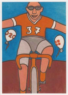 Cpm 1741/628 ERGON - Homme à Bicyclette  - Vélo - Cyclisme - Bicycle - Cycle - Illustrateurs - Illustrateur - Ergon