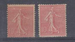 N°129* X 2 Neufs 1er Sans Gomme Et 2e Avec Charnière - 1903-60 Säerin, Untergrund Schraffiert