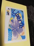 NOUVELLE CALEDONIA  PREPAID CARD  1000  LIBERTE     OPT    ** 3873 ** - Neukaledonien