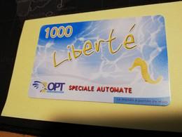 NOUVELLE CALEDONIA  PREPAID CARD  1000  LIBERTE SPECIAL AUTOMATE     OPT    ** 3875 ** - Neukaledonien