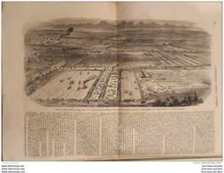 1855 TRAPPES REVUE AGRICOLE - PORNIC STATUE AMIRAL LE RAY - REINE D'ANGLETERRE - HOTEL DE VILLE DE LYON - HENRI VALENTIN - 1850 - 1899