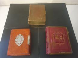 Rares Lot De 3 Albums Années 1880 10/7cm Pour Photos Cdv. 11. 21. 15 Pages. Bords Dorés. Vente à L Unité Possible - Anciennes (Av. 1900)