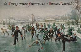 RUSSIE. Les Joies De La Patinoire - Illustrateur Signé K. Morvxxxxxxx - Russland
