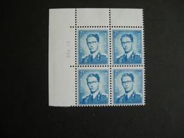 Belgique: 1069B** Coin Daté  Phospho 7 Fr Bleu - Unused Stamps