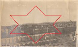"""Photo Février 1919 SAINT-NAZAIRE - Camp Américain N°7, Montage De Camions, """"Park Réception Moteur"""" (A225, Ww1, Wk 1) - Saint Nazaire"""