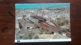 GARE SNCF ANCIENNE GARE MONTPARNASSE VUE AERIENNE - Stations Without Trains