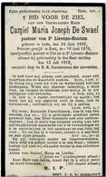 ST. LIEVENS-HOUTEM / LEDE / ELST - Z.E.H. Camiel DE SWAEF, Pastoor -  Overleden 1919 - Andachtsbilder