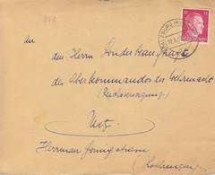 4 Lettres De Phalsbourg (T329 Pfalzburg Westmark A), Sur TP Hitler 6pf Et 12pf En 1942 (12/5 Au 16/6) Pour Metz - Alsazia Lorena