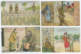 Très Jolie Série De 15 Cpa Fantaisie Sur La Ligne MAGINOT Illustrateur Dumont - Guerra 1939-45