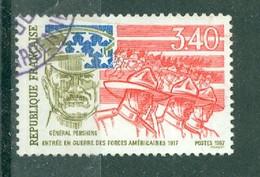 FRANCE - N° 2477 Oblitéré - 70° Anniversaire De L'entrée En Guerre Des Etats-Unis, Lors De La 1er Guerre Mondiale. - Gebruikt