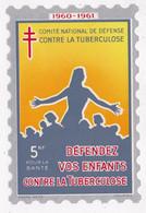 TIMBRE VIGNETTE GEANT Défendez Vos Enfants 5 Nf  Comité De Défense Contre Le Tuberculose - Erinnophilie