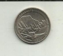S-1/4 Dollar 2010D USA (Yosemite) - 2010-...: National Parks