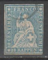 Svizzera 1854 - Helvetia 10 R. - Gebraucht