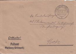 4 Lettres à Entête (Postamt Phazburg) En Franchise De Phalsbourg (T329 Pfalzburg Westm C), De 42 à 44 - Elzas-Lotharingen