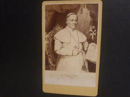 Rare CDV Ancienne  Années 1870. Portrait Du Pape PI IX - Anciennes (Av. 1900)