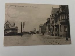 Carte Postale Ancienne  LA PANNE Avenue De Dunkerque (timbre 10c) - De Panne