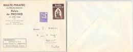 LETTRE PUBLICITAIRE RALLYE PHILATEC AUTRICHE-FRANCE - RELAIS DE PROVINS 13 JUIN 1964   /2 - Brieven En Documenten